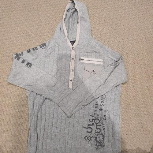 Men's  V3 grey hoody jumper