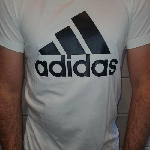Men's White Adidas T-shirt