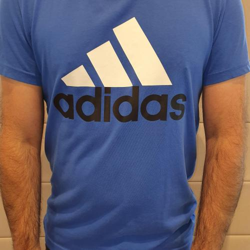 Men's Blue Adidas T-shirt